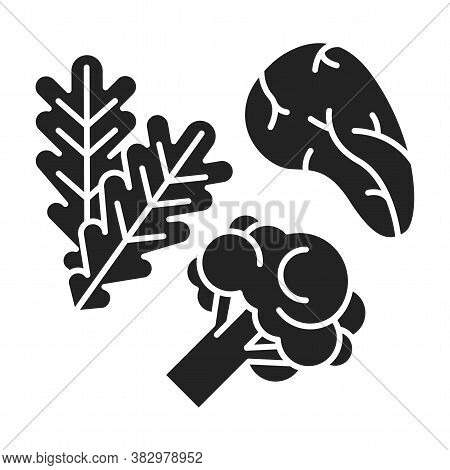 Low Carbs Black Glyph Icon. Limits Carbohydrates Such As Those Found In Grains, Starchy Vegetables A