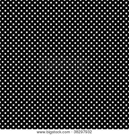 Seamless White Dots on Black