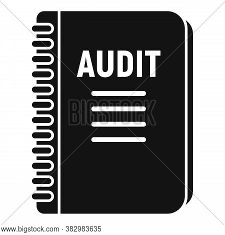 Audit Notebook Icon. Simple Illustration Of Audit Notebook Vector Icon For Web Design Isolated On Wh