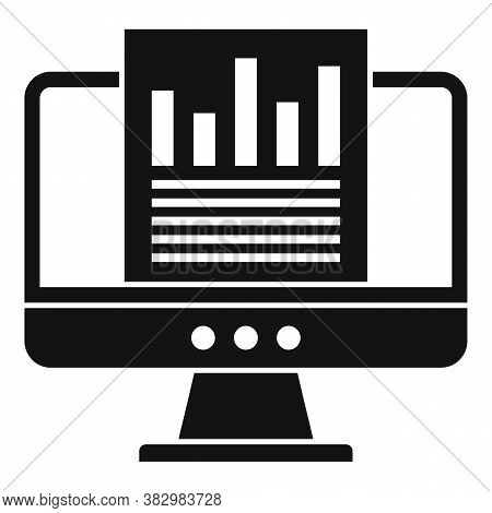 Audit Monitor Icon. Simple Illustration Of Audit Monitor Vector Icon For Web Design Isolated On Whit