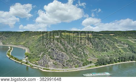 The Famous Loreley Rock At Rhine River,rhineland-palatinate,germany