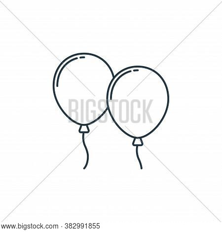 balloons icon isolated on white background from birthday party collection. balloons icon trendy and