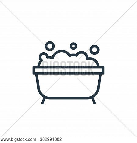 bathtub icon isolated on white background from bathroom accessories collection. bathtub icon trendy