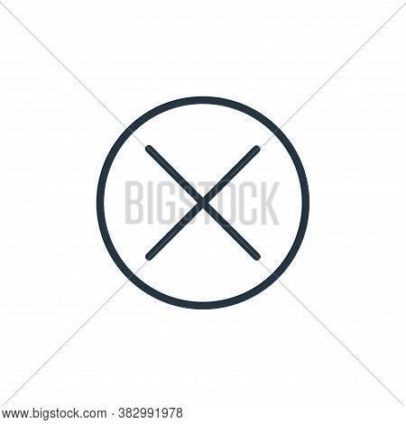 close icon isolated on white background from media players collection. close icon trendy and modern