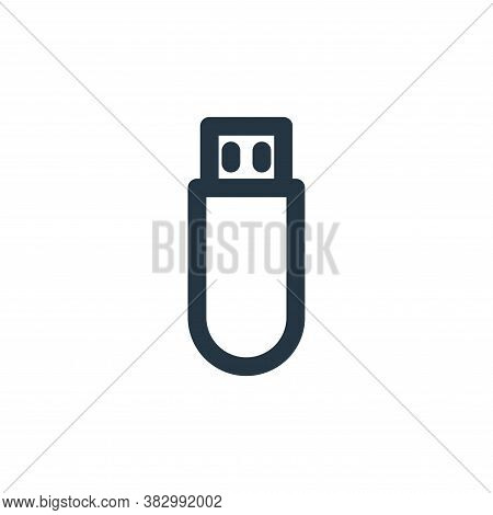 usb flash drive icon isolated on white background from technology collection. usb flash drive icon t