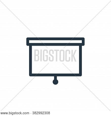 whiteboard icon isolated on white background from office equipment collection. whiteboard icon trend