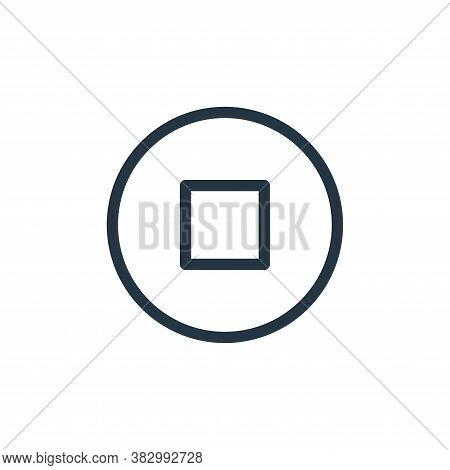 stop icon isolated on white background from communication and media collection. stop icon trendy and