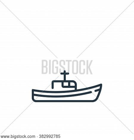 fishing boat icon isolated on white background from vehicles transportation collection. fishing boat