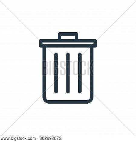 trash bin icon isolated on white background from school collection. trash bin icon trendy and modern