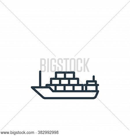 cargo ship icon isolated on white background from vehicles collection. cargo ship icon trendy and mo