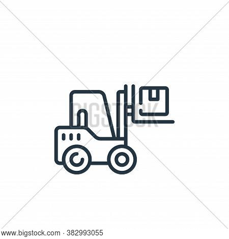 forklift icon isolated on white background from vehicles transportation collection. forklift icon tr