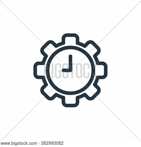 time icon isolated on white background from office equipment collection. time icon trendy and modern