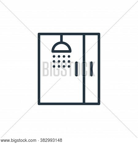 shower icon isolated on white background from bathroom accessories collection. shower icon trendy an
