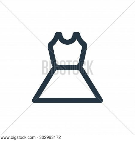 dress icon isolated on white background from ecommerce ui collection. dress icon trendy and modern d