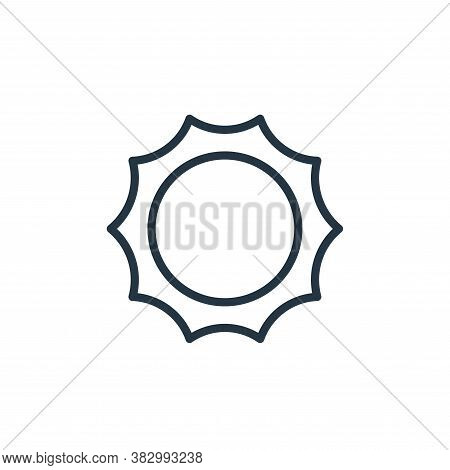 sun icon isolated on white background from universe collection. sun icon trendy and modern sun symbo