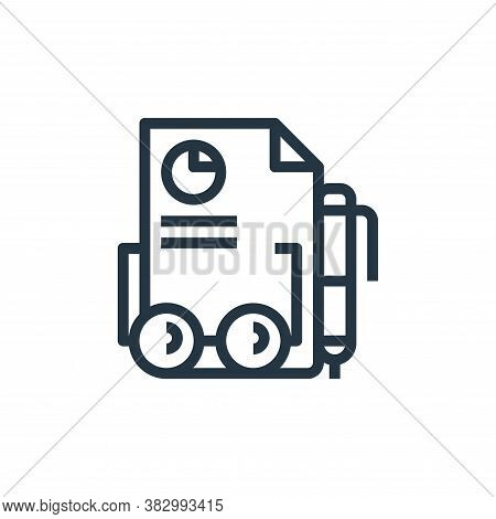report icon isolated on white background from business and money collection. report icon trendy and