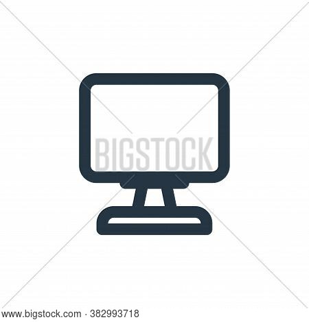 computer icon isolated on white background from ecommerce ui collection. computer icon trendy and mo