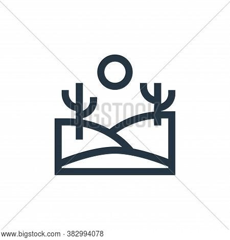 desert icon isolated on white background from morocco collection. desert icon trendy and modern dese