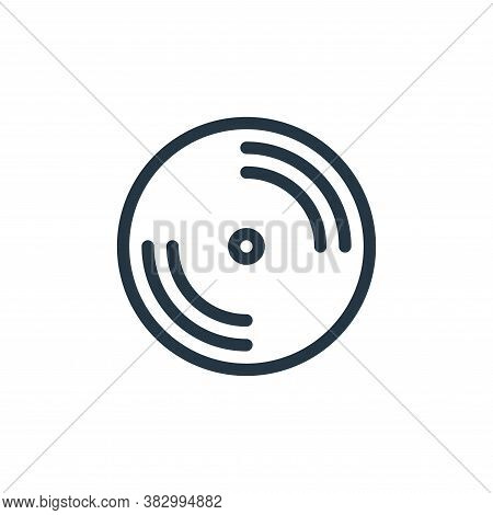disc icon isolated on white background from communication and media collection. disc icon trendy and