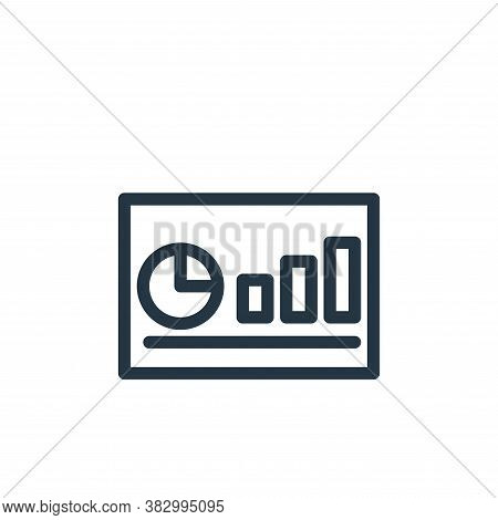 business chart icon isolated on white background from office equipment collection. business chart ic