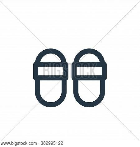 slipper icon isolated on white background from style accessories collection. slipper icon trendy and