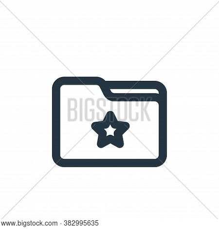 favourite icon isolated on white background from file and folder collection. favourite icon trendy a