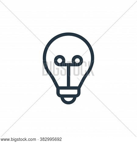 light bulb icon isolated on white background from smarthome collection. light bulb icon trendy and m