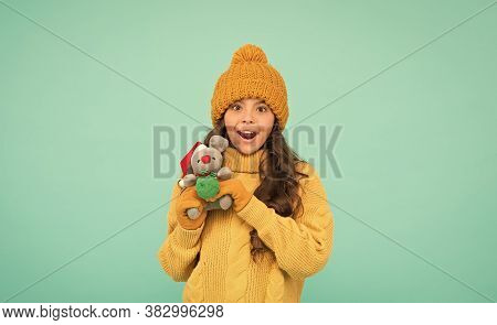 Buy Gifts. Kindergarten And School. Toys Shop Concept. Awesome News. Girl Sincere Emotional Child Ho