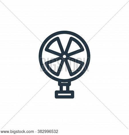 fan icon isolated on white background from office equipment collection. fan icon trendy and modern f