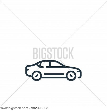sedan icon isolated on white background from vehicles transportation collection. sedan icon trendy a