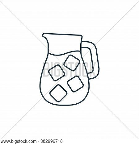 jug icon isolated on white background from coffee shop collection. jug icon trendy and modern jug sy