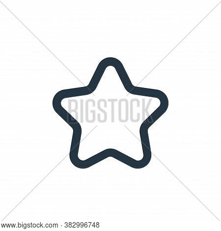 starred icon isolated on white background from ecommerce ui collection. starred icon trendy and mode