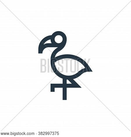 flamingo icon isolated on white background from mexico collection. flamingo icon trendy and modern f