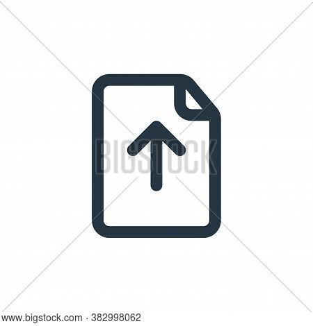 upload file icon isolated on white background from file and folder collection. upload file icon tren