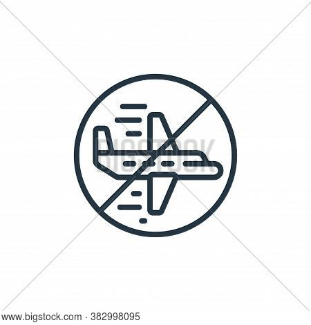 airplane flight icon isolated on white background from coronavirus collection. airplane flight icon