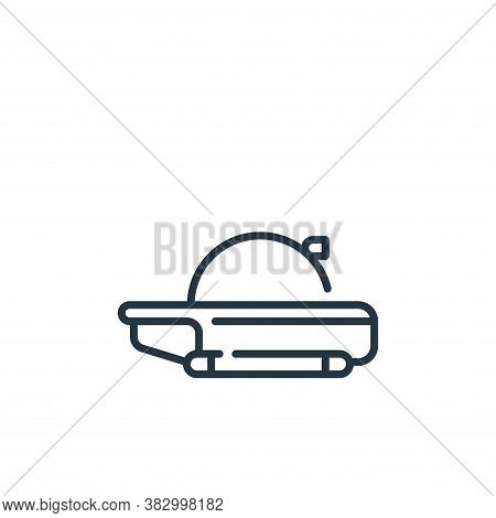 submarine icon isolated on white background from vehicles transportation collection. submarine icon