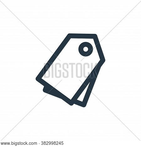 label icon isolated on white background from user interface collection. label icon trendy and modern