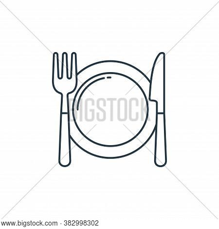 serving dish icon isolated on white background from birthday party collection. serving dish icon tre