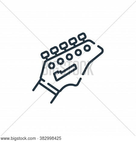 guitar icon isolated on white background from rock and roll collection. guitar icon trendy and moder