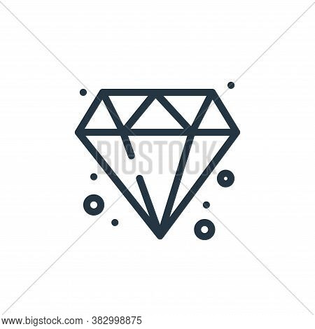 diamond icon isolated on white background from jewellery collection. diamond icon trendy and modern