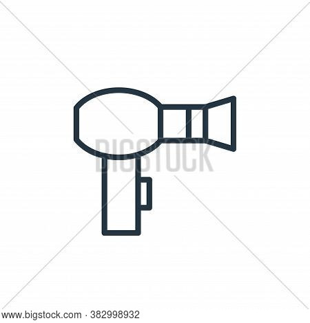hair dryer icon isolated on white background from bathroom accessories collection. hair dryer icon t