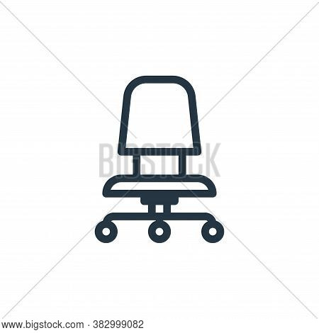 chair icon isolated on white background from office equipment collection. chair icon trendy and mode