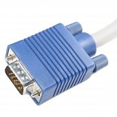 A video graphics array (Vga) connector on a white background poster