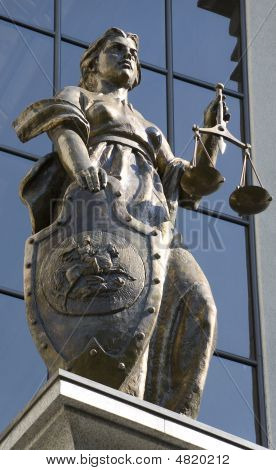 The Themis Statue On The Russian Supreme Court Building In Moscow