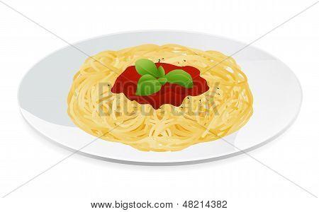 Italian Pasta bolognese with tomato sauce