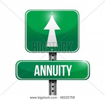 Annuity Road Sign Illustration Design