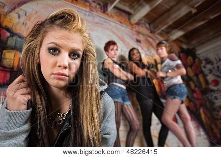 Gang Intimidating Girl