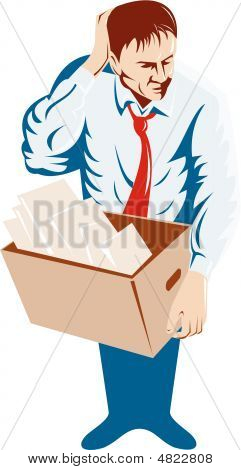 Unemployed Man With Box