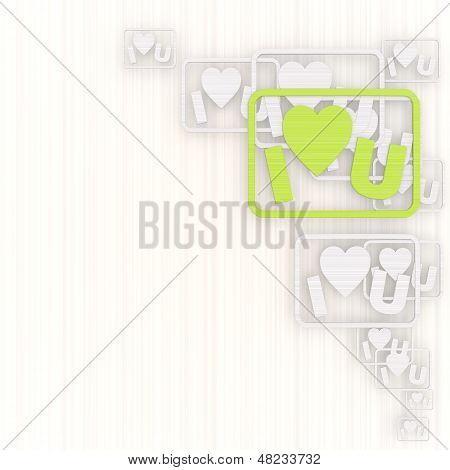 Illustration Of A Creative I Love You Background With Pictogram