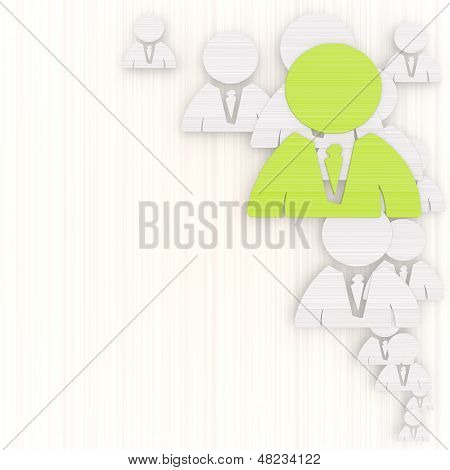 3D Graphic Of A Creative Business Man Background With Pictogram